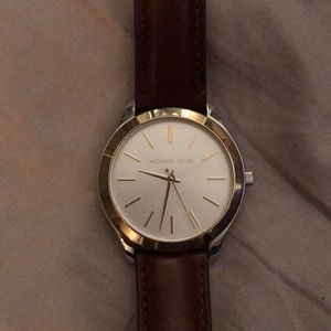 Michael Kors Brown/gold leather watch
